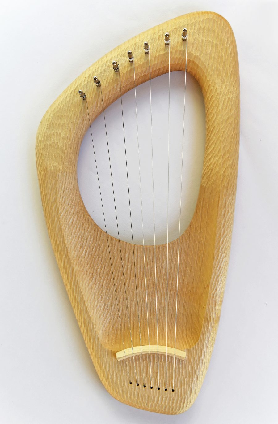 7 String Pentatonic Lyre, Hand carved, Maple Wood