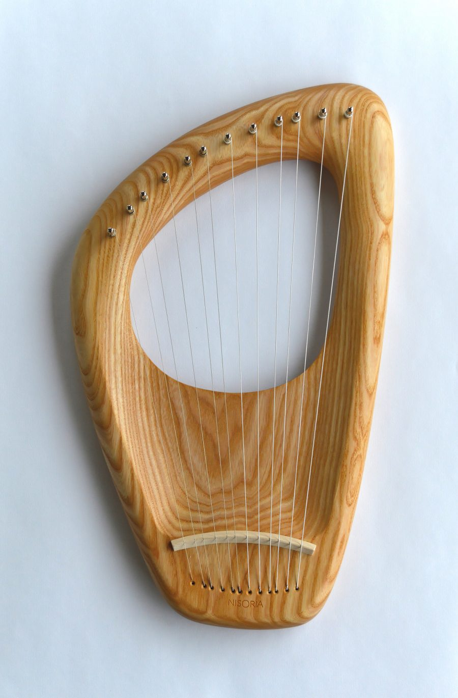 12 String Diatonic Lyre, Ash Wood