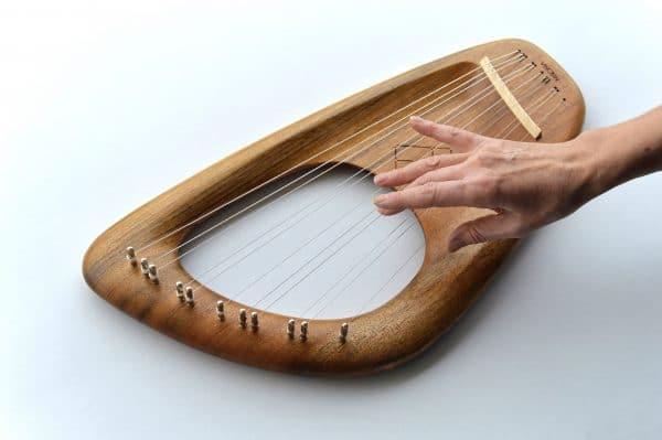 Ovangkol 11 string lyre