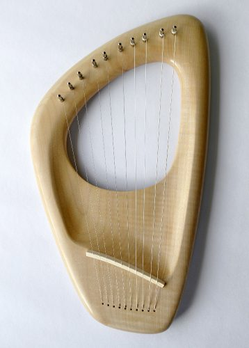 10 string Pentatonic Lyre, Maple